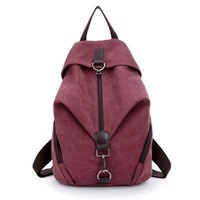 Women backpack college student school book bag