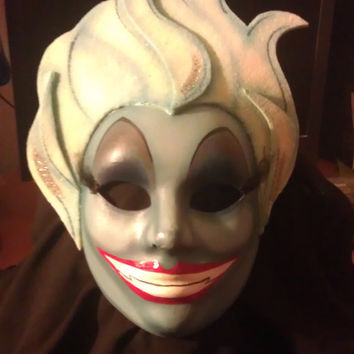 "Ursula, Evil Queen, ""The Little Mermaid"" Disney, Paper Mache, Hand-Painted, Nice"