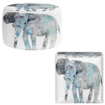 Ottoman Foot Stool Pouf Round or Square from DiaNoche Designs by Marley Ungaro Home Decor and Bedroom Ideas Elephant