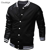 College-Style PU Leather Jacket - 6 Colors Available