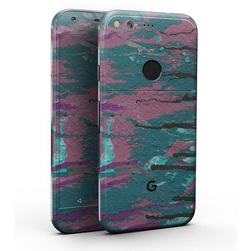 "Abstract Retro Pink Wet Paint - Full-Body Skin Kit for the Google 5"" Pixel or 5.5"" Pixel XL"