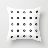Daisies Throw Pillow by Perrin Le Feuvre