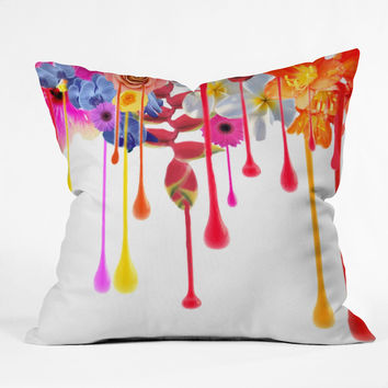 Deb Haugen Drip Fleur Throw Pillow