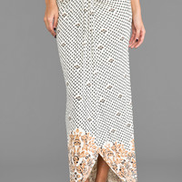 Free People Column Skirt in Antique Combo