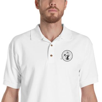 Lucky Golf Men Embroidered Polo Shirt
