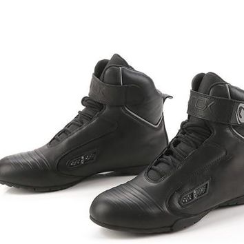 2016 New Arrival Rushed Unisex Mid-calf Leather For Air Jordans Locomotive Shoes Motorcycle Boots, Safety Racing Sports Cycling