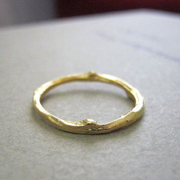 twig ring, gold plated, wedding ring, hand made jewelry, branch ring, natural look, wedding band, engagement, minimalist, valentine's gift