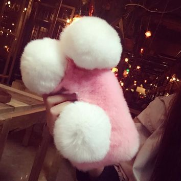 Lovely plush toys mobile phone case for iphone 7 7 Plus 6 6s 6 plus 6s plus