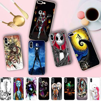 Minason The Nightmare Befor Christmas Jack Skellington Case for iPhone X 5 5S XR XS Max 6 6S 7 8 Plus Soft Silicone Phone Cover