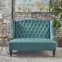 Lauren Teal Loveseat