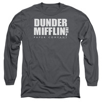 THE OFFICE/DUNDER MIFFLIN - L/S ADULT 18/1 - CHARCOAL -