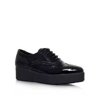 Leslie lace up platform brogues