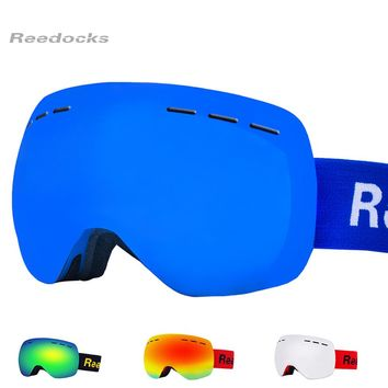 Reedocks New Brand Ski Goggles Double Layers UV400 Anti-fog Big Ski Mask Glasses Skiing men Women Snow Eyewear Snowboard Goggles