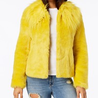 GUESS Agata Faux-Fur Coat - Coats - Women - Macy's