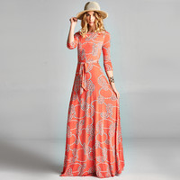 Coral Venechia Wrap Dress