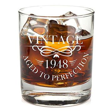 1988 30th Birthday Lowball Whiskey Glass for Men and Women  Vintage Aged To Perfection  Anniversary Gift Idea for Him Her Husband or Wife  30 Year Old Presents for Mom Dad  11 oz Bourbon Scotch