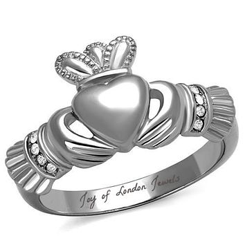 Celtic Irish Heart Claddagh Ring