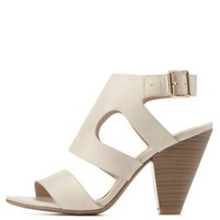 Slingback Chunky Heel Sandals by Charlotte Russe