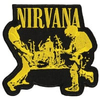 Nirvana Men's Live Embroidered Patch Black