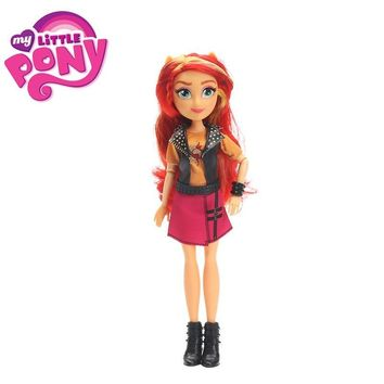 My Little Pony Toys Equestria Girls Sunset Shimmer Apple Jack Rarity PVC Action Figures Pony Classic Style Collection Dolls