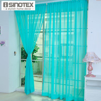 Window Curtain Panel Rod Pocket Solid Tulle Voile Transparent Elegance Sheer Multicolor For Home Living Room Screening 1PCS/Lot