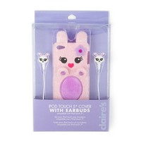Plush Bunny iPod Touch 5 Cover with Earbuds | Claire's