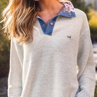 Pawleys Rope Pullover in Oatmeal by Southern Marsh - FINAL SALE