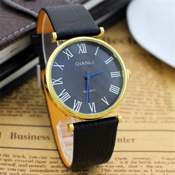 Superior Quality Mens Retro Leather Strap Watch Best Christmas Gift