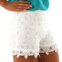 Little White Lies Shorts: White