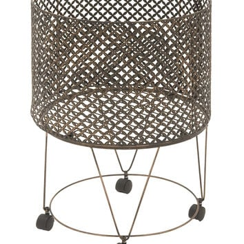 Unique And Lovely Metal Storage Cart 20In W 28In H