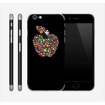 The Apple Icon Floral Collage Skin for the Apple iPhone 6