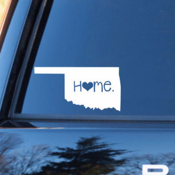 Oklahoma Home Decal | Oklahoma Decal | Homestate Decals | Love Sticker | Love Decal  | Car Decal | Car Stickers | 076