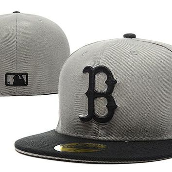 Boston Red Sox New Era MLB Authentic Collection 59FIFTY Cap Grey-Black