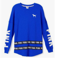 Victoria's Secret Fashion  Long Sleeve Casual Round Neck Print Sweater