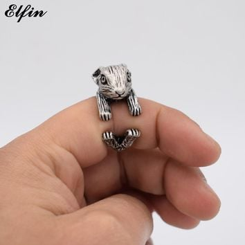 Elfin 2017 Vintage Adjustable Netherland Dwarf Rabbit Ring