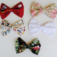 Pastel Hair Bows Hair Accessories