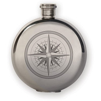 KIKKERLAND 5 OZ FLASK + COMPASS