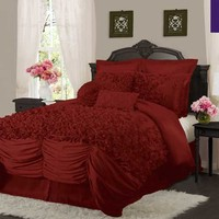 Lush Decor Lucia Red Bedding By Lush Decor Bedding, Comforters, Comforter Sets, Duvets, Bedspreads, Quilts, Sheets, Pillows: The Home Decorating Company