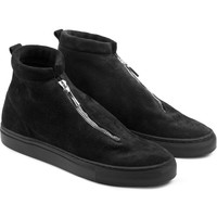 Diemme Black/Black Heavyweight Suede Fontesi Mid Cut Shoes | HYPEBEAST Store.