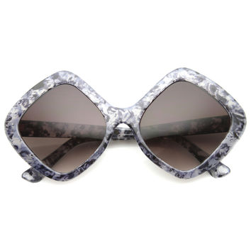 Women's Indie Oversize Diamond Shape Sunglasses 9968