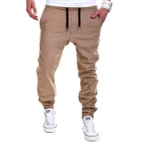 Men Sweatpants Skinny  Slim Fit Trousers