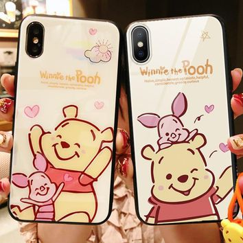 Cartoon Tempered Glass Phone Case