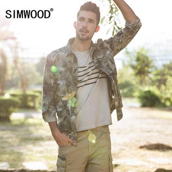 SIMWOOD 2018 Autumn Jacket Men Military Slim Fit Casual Fashion Camouflage Coats High Quality Windbreaker Brand Clothing 180064
