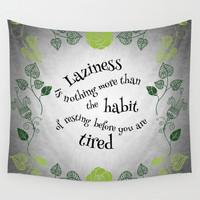 Lazy Floral Rest Wall Tapestry by Sundressed