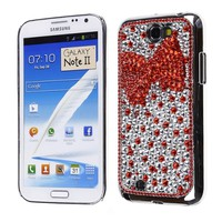 Cases & Wallets :: Samsung :: Galaxy Note 2/ T889/I605/N7100 :: Cube® - Samsung Galaxy Note II - FD Premium Red Bow