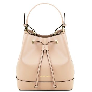 Minerva Saffiano leather secchiello bag