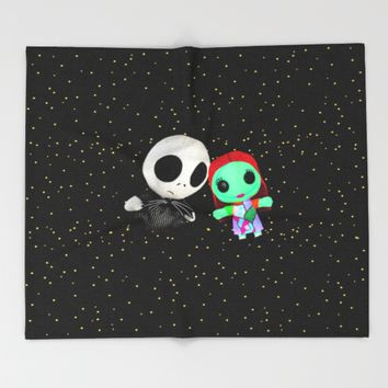 Halloween Babies | Jack | Sally | Christmas | Nightmare Throw Blanket by Azima