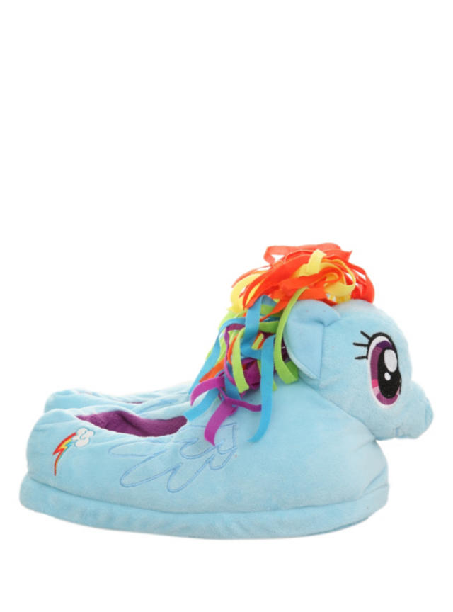 dd260cafcfb4 My Little Pony Rainbow Dash Slippers from Hot Topic
