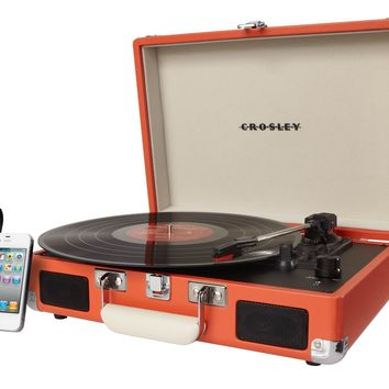 CR8005A-OR Crosley Cruiser Turntable - Orange Vinyl - Gifts for You 'n Me.com