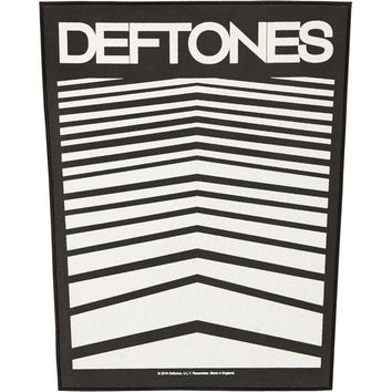Deftones Men's Abstract Lines Back Patch Black